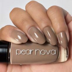 Medium brown oak vegan and cruelty free nail polish. 5 free