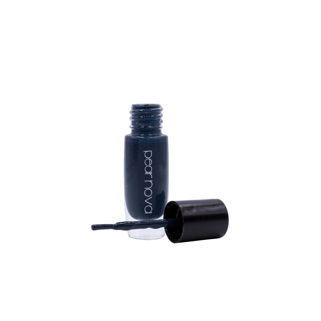 Dark Greenish blue vegan cruelty free nail polish.  5 free