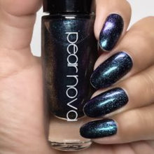 dark shimmery blue/purple vegan cruelty and 5 free nail polish