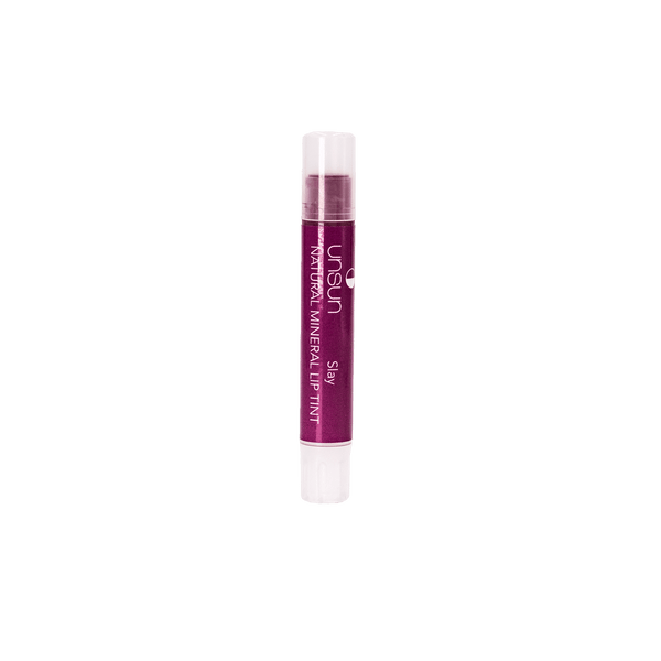 Deep pinkish red moisturizing and long lasting lip balm with SPF 18 to protect lips from the sun.