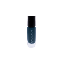 dark turquoise with hints of navy blue vegan and cruelty free nail polish. 5 free