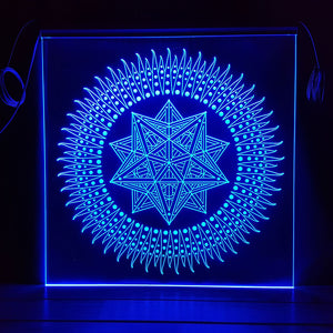 Immediacy - Edge-lit Mandala