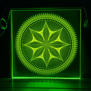 Strung Out Star - Edge-lit Mandala