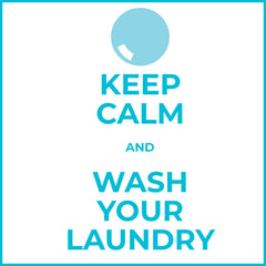 Keep Calm and Wash Your Laundry infographic