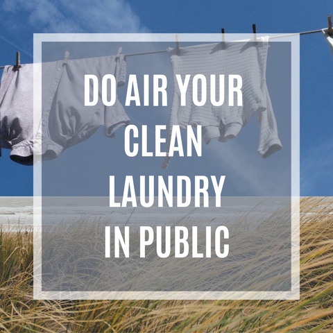 Hang-dry the laundry and air your clean laundry in public