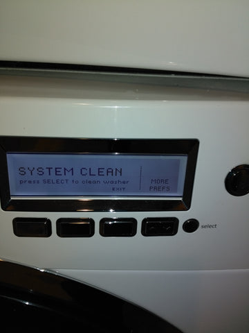 how to run a system clean of a front-loading washing machine
