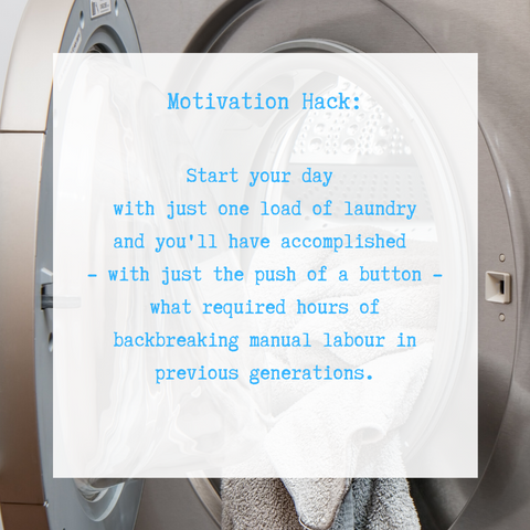 Motivation Tip for Doing Getting the Laundry Done