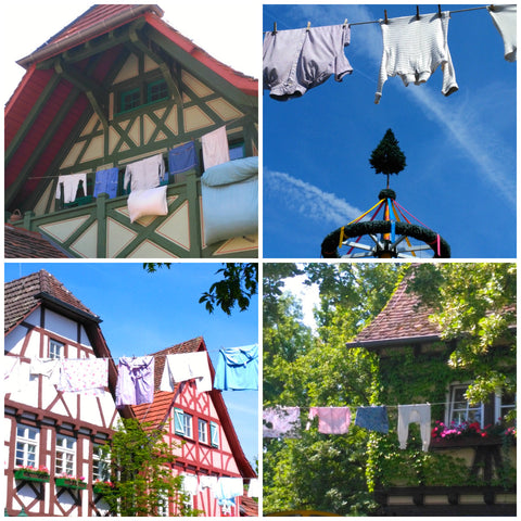 Clotheslines at Tripsdrill theme park in Germany