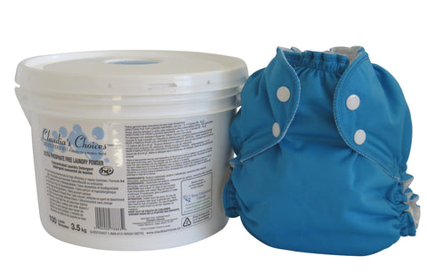 cloth diaper detergent and diaper