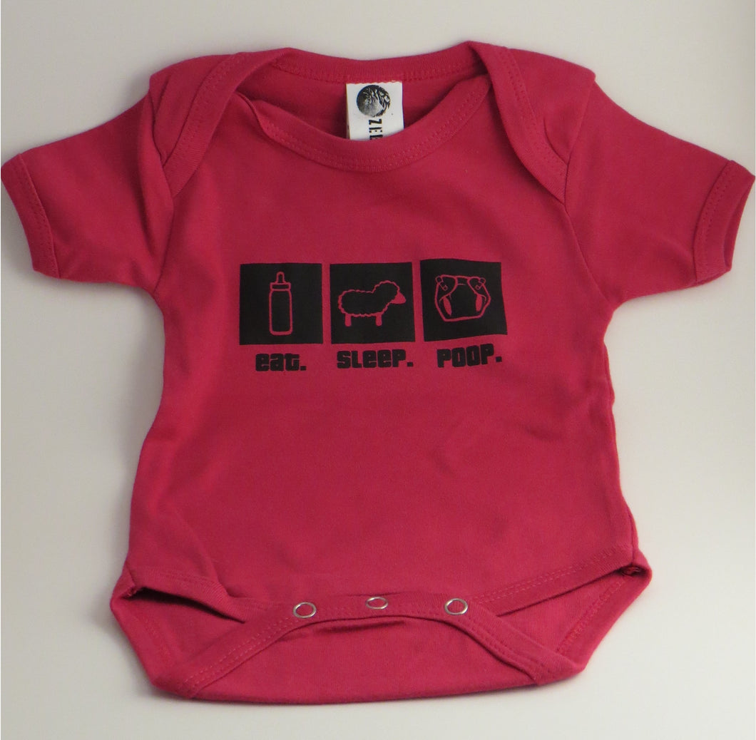 Organic Cotton Onesie - eat.sleep.poop.