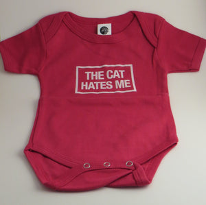 "Organic Cotton Onesie - ""The Cat Hates Me"""