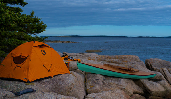 Fox Canoe camping on Maine Island