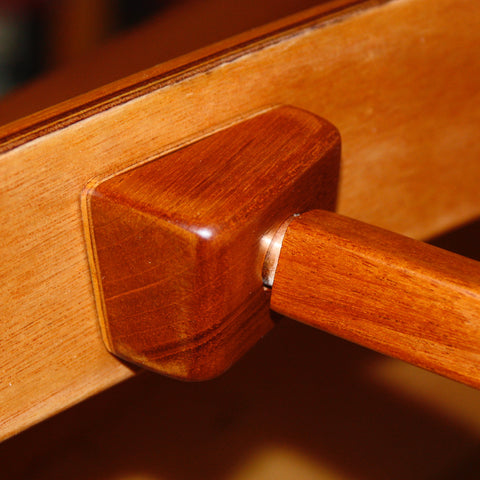 Fox Canoe detail of seatback block