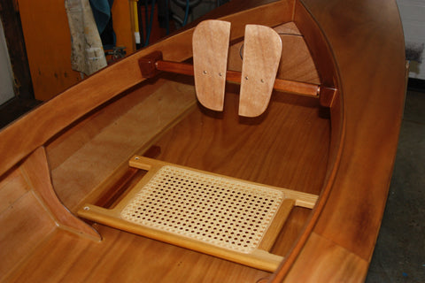 Fox Canoe interior with cane seat