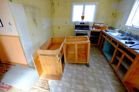 Ripping out old kitchen