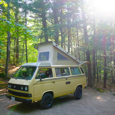 VW Camper Van in White Mountains
