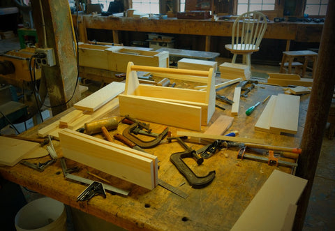 Tools and work bench/woodworking class