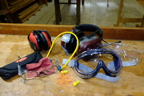 hearing protection, safty glasses