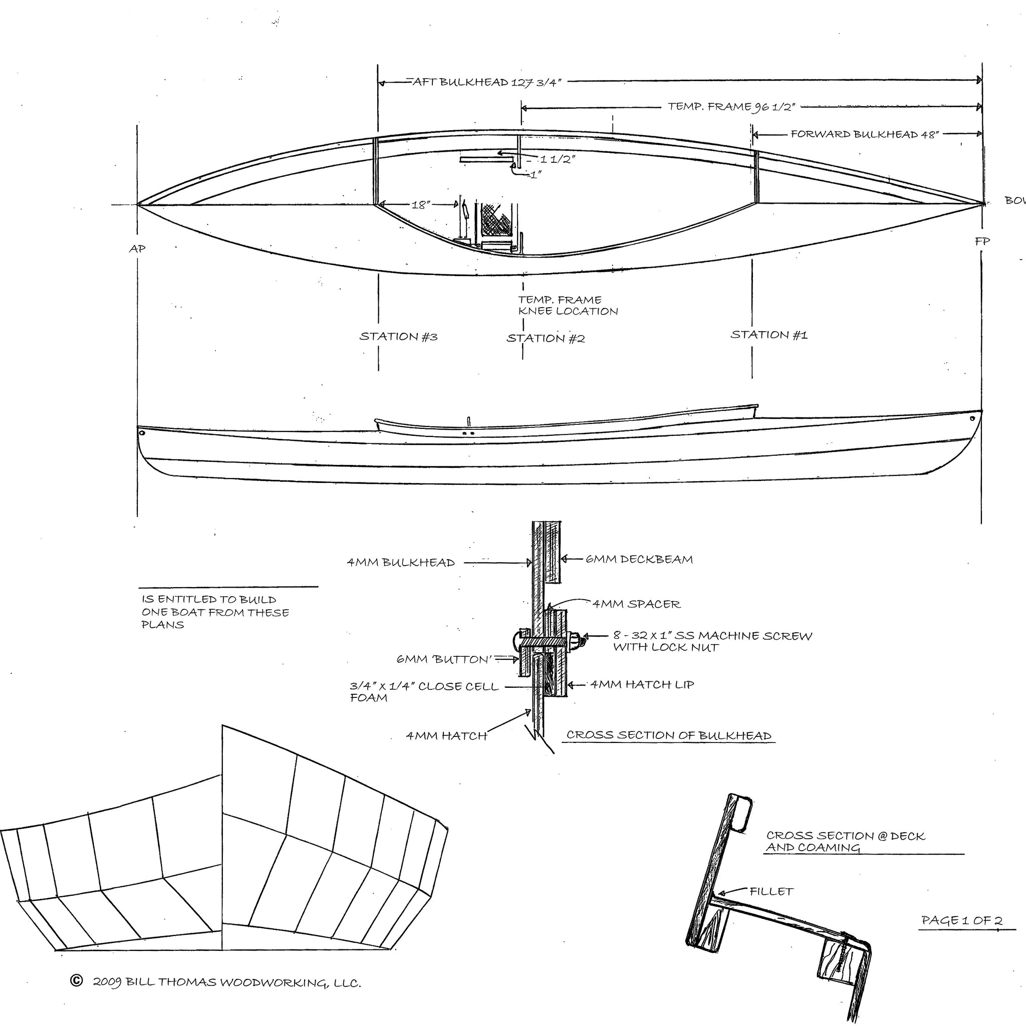 Fox Canoe - Plans – Bill Thomas Maker