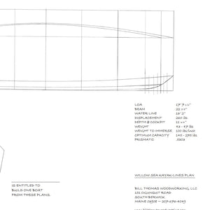 Willow Sea Kayak - Plans
