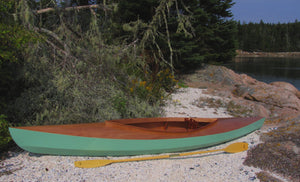 Fox Canoe on an island