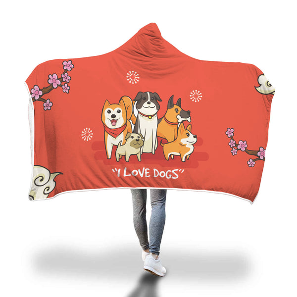Cozyhood Dog Lover Blanket