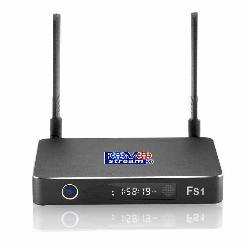 FOMO Streaming Box FS1 Quad Core, Android TV Box | HD, 3D, & 4K Streaming media player with Keyboard Remote control