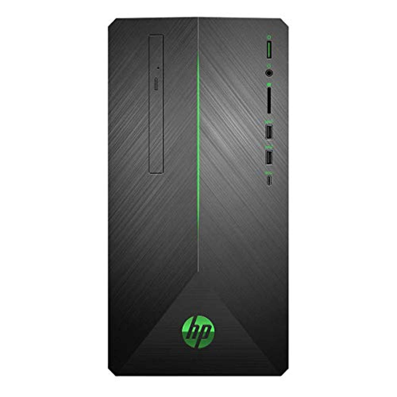 HP HP3LA37AAR Pavilion 690-0067C Gaming Desktop, AMD Ryzen 7 1700 3.0GHz, 16GB DDR4, 1TB SATA HDD, DVD, AMD Radeon RX 550 4GB, 802.11ac, Bluetooth, Win10Home (Certified Refurbished)