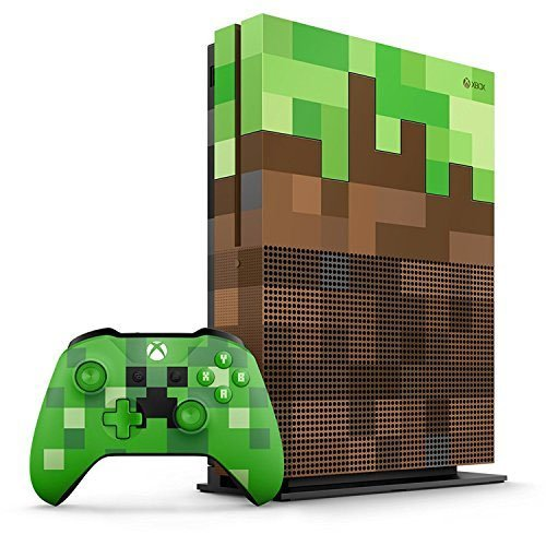 Xbox One S Minecraft Limited Edition Bundle 1TB Green & Brown Console