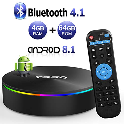 Discount Android Streaming box T95Q Android 8.1 TV Box 4GB RAM 64GB ROM Amlogic S905X2 Quad-core Cortex-A53 Bluetooth 4.1 HDMI 2.1 H.265 4K