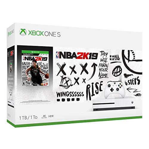 Microsoft Xbox One S 1TB NBA 2k19 Console Bundle - White