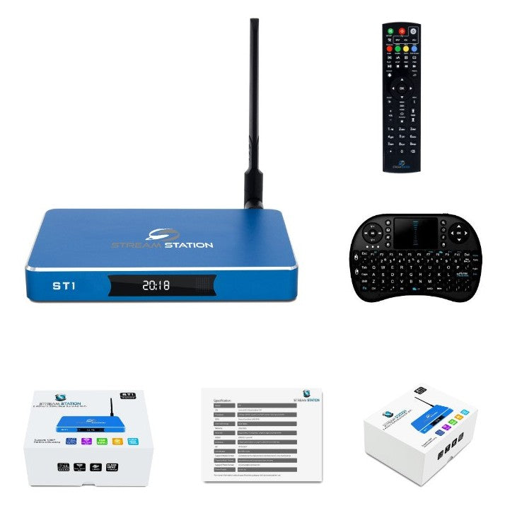 Stream Station ST1 with wireless Remote Keyboard Quad Xore Android Dual  Wifi 2 4GHZ