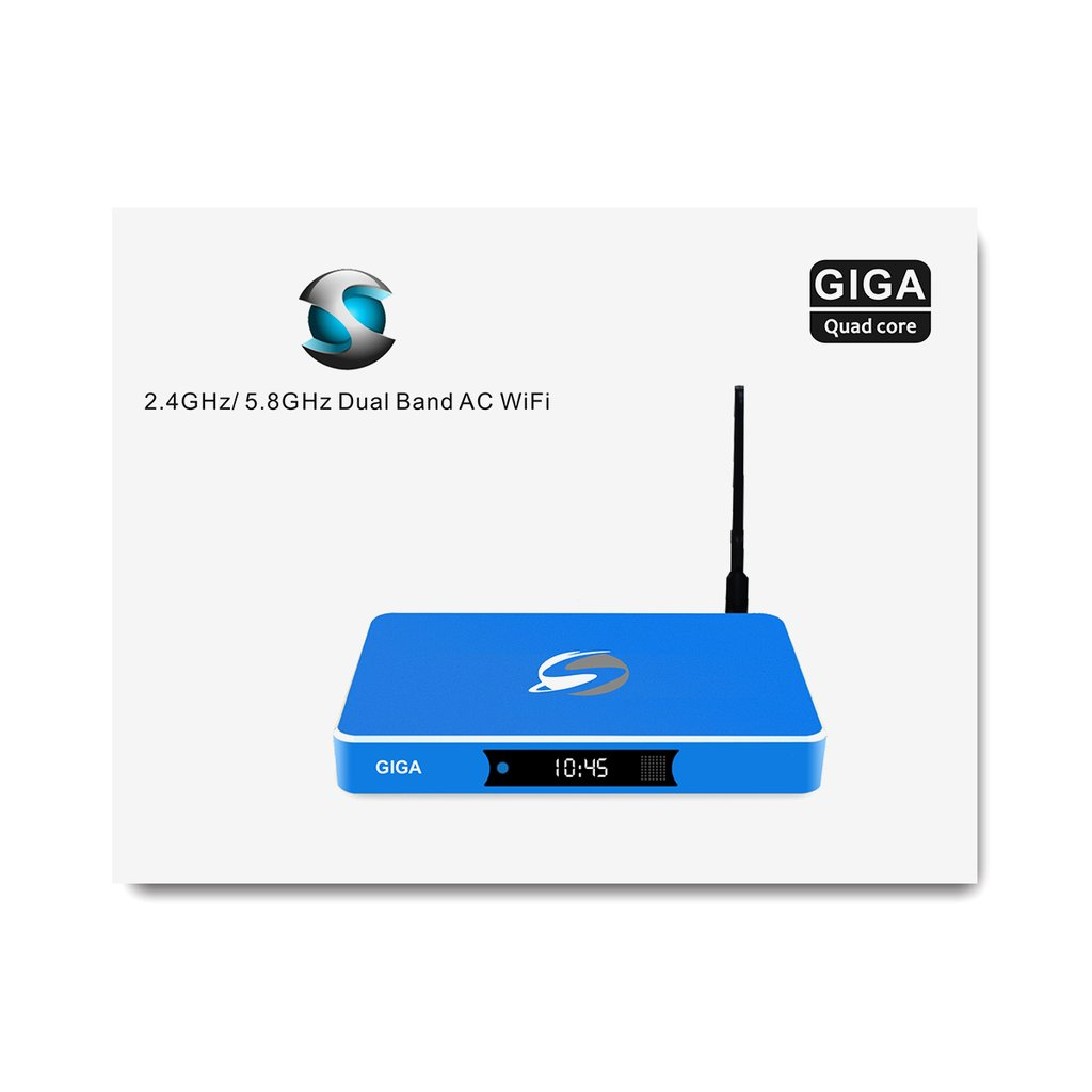 STREAMSMART GIGA ST2 QUAD CORE ANDROID DUAL WIFI 2.4GHZ AND 5.8GHZ AC WARRANTY 1 YEAR WITH PREMIUM KEYBOARD REMOTE
