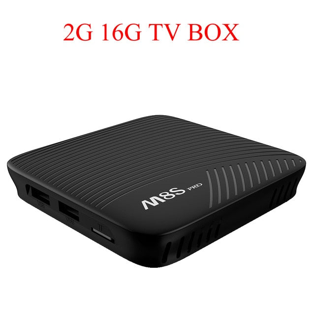 Android 7.1 TV Box 16GB 32GB ROM Dual wifi Bt 4.1 HDR10 H.265 4K Media Player M8S PRO 2GB/3GB DDR4 Amlogic S912 Octa-core Smart