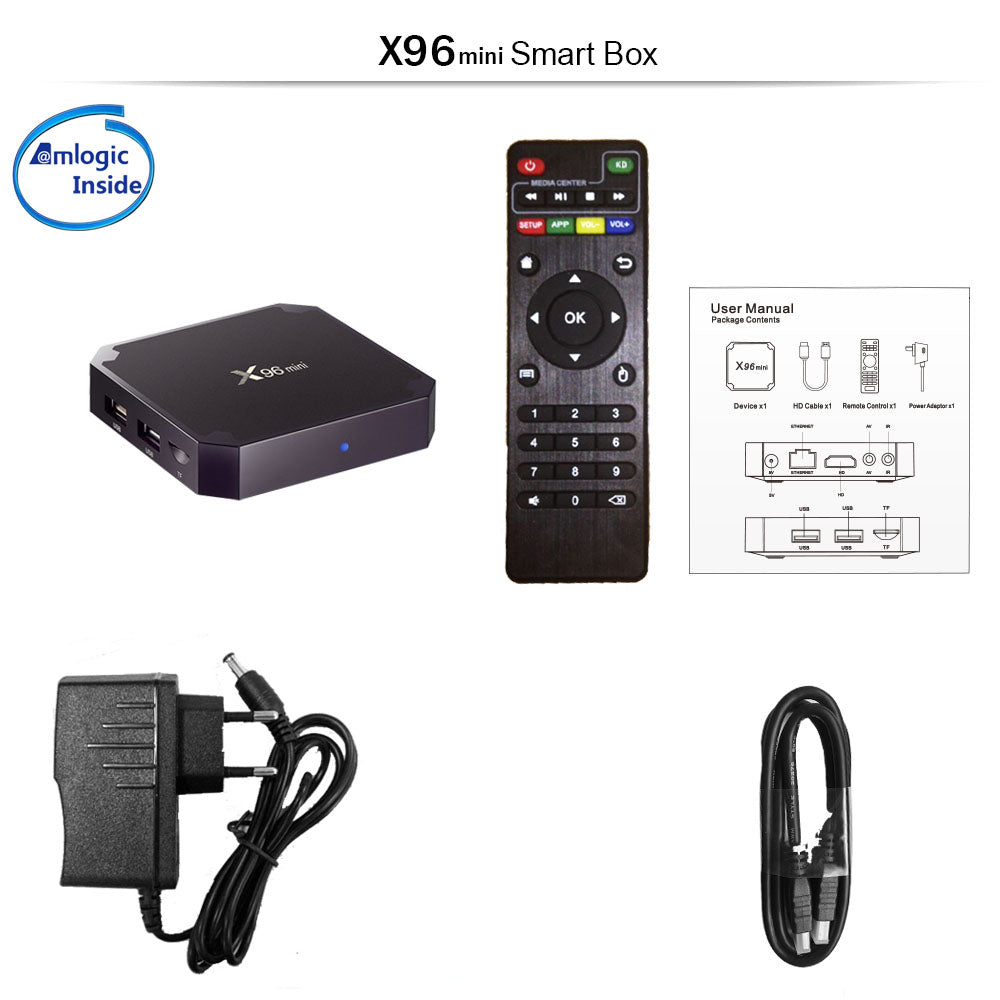 X96 Mini 2Ram 16Rom IPTV Arabic French Sweden Channels Android IP TV Box  Arabic IPTV Receiver No Monthly Fee No Yearly fee