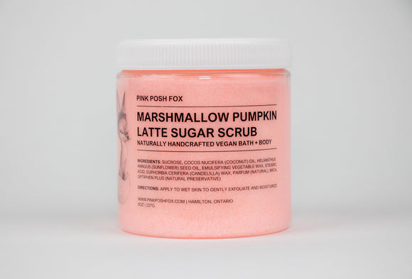 Marshmallow Pumpkin Latte Sugar Scrub - Pink Posh Fox