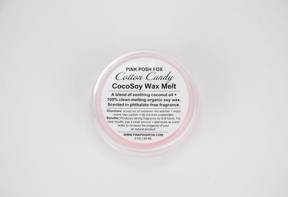 Cotton Candy CocoSoy Wax Melt - Pink Posh Fox