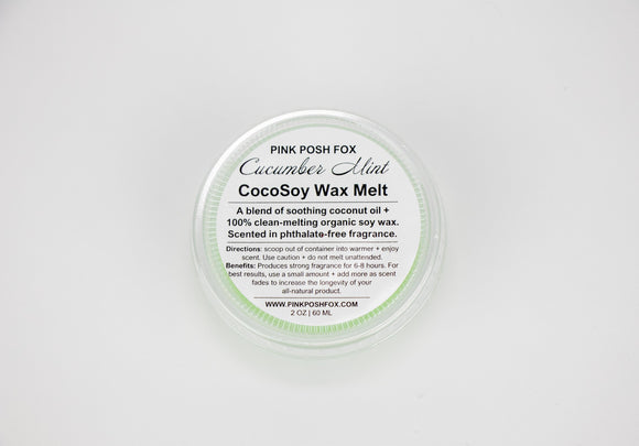 Cucumber Mint CocoSoy Wax Melt - Pink Posh Fox