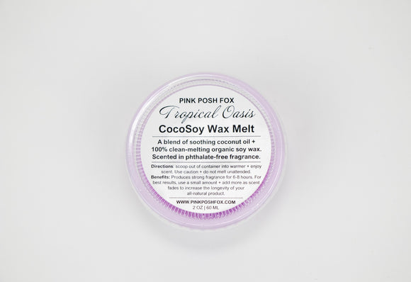 Tropical Oasis CocoSoy Wax Melt - Pink Posh Fox