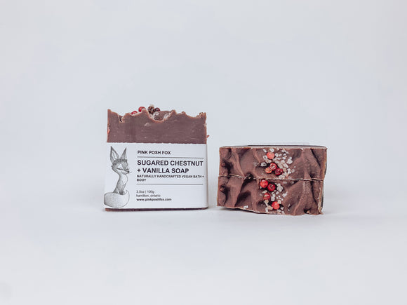 Sugared Chestnut + Vanilla Soap - Pink Posh Fox