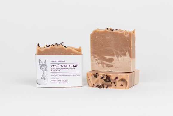 PREORDER: Rosé Wine Soap with local Niagara Wine - Pink Posh Fox