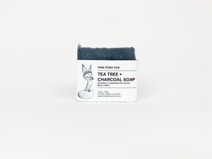 Tea Tree + Charcoal Cleansing Bar - Pink Posh Fox