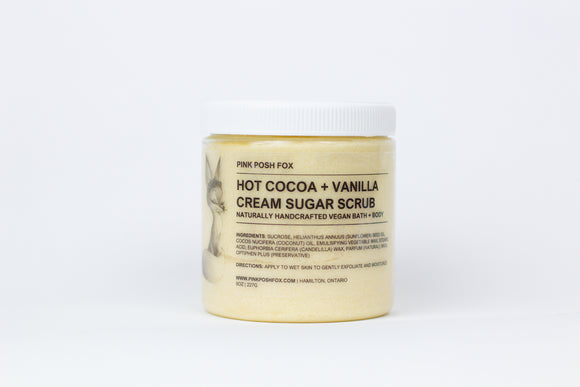 Hot Cocoa + Vanilla Cream Sugar Scrub - Pink Posh Fox