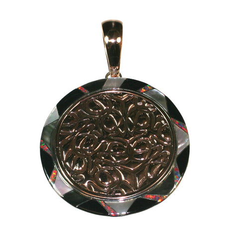 Bronze Inlay Pendant