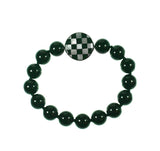 Checkerboard magnetic inlay clasp by Kelly Charveaux