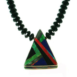 Multi stone inlay necklace with turquoise by Kelly Charveaux