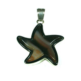 Agate star pendant with inlay by Charveaux