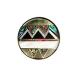 Aztec design inlay ring by Kelly Charveaux