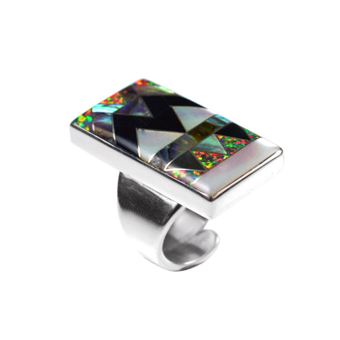 Adjustable inlay ring by Kelly Charveaux