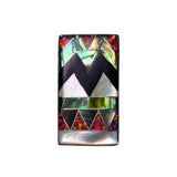 Aztec inlay ring by Kelly Charveaux